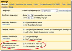 Gmail-conversation-mode-setting