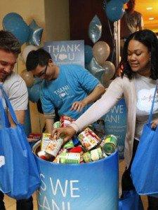 salesforce food drive dreamforce 2014
