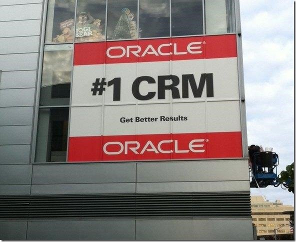 Oracle Number 1 CRM banner Moscone